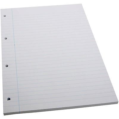 A4 x 100 Sheets Lined Ruled Line Notes 4 Hole Paper School Writing Pad Art/Craft