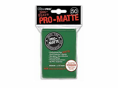 Ultra Pro Deck Protector Sleeves x50 - Pro Matte Non-Glare - Green