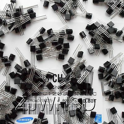 (A1015 - 2N5551) 360pcs 18value Bipolar Signal Transistor TO-92 NPN PNP Kit Set