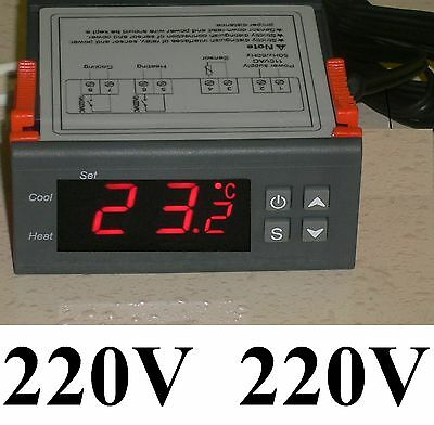 Digital Temperature Controller Beer Home Brewing Thermostat Equipment Wine 220V
