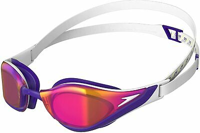 Speedo Aquapulse Max 2 Swimming Goggles Red Smoke Tinted Lens New Antifog