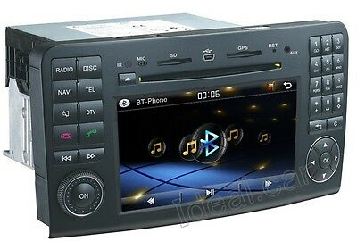 Car GPS Navigation IPOD RDS Radio Analog TV DVD for 2006-11 Mercedes-Benz ML350