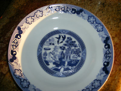"Bristol House China 8 1/4"" Soup Bowl Blue Willow"