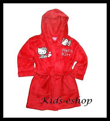 HELLO KITTY Robe Dressing Gown Girls Bath  Kids 3-4 Years