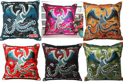 Wholesale 6pair/12pcs Chinese Classical Silk Embroidered Phoenix Cushion Covers