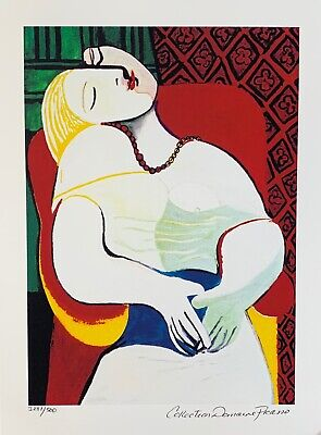 Pablo Picasso LE REVE THE DREAM Estate Signed Numbered Small Giclee
