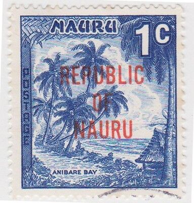 (NA40)1968 Nauru 1cBlue opted Republic of Nauru FU ow84