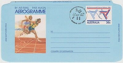 (R3-34)1982 Au games16 commonwealth post Airo-grams
