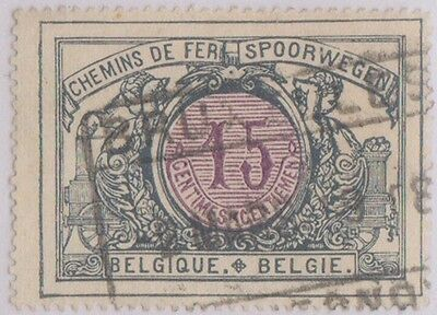 (R3-45) 1895 Belgium 15c & 80c Railways stamp ow67-105