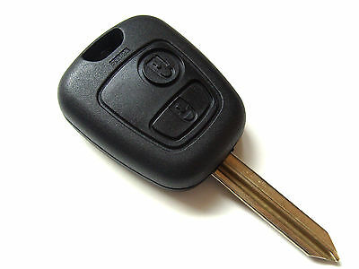 2 Button Remote Key Fob + Blank Key Blade For Peugeot Boxer Expert Partner
