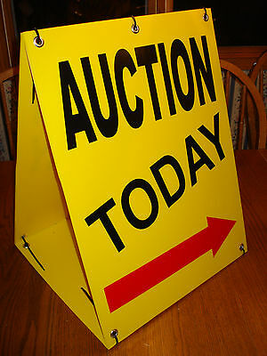 AUCTION TODAY WITH ARROW Sandwich Board Sign 2-sided Kit NEW