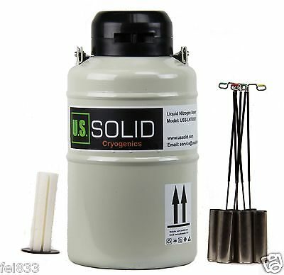 3 L Liquid Nitrogen Container Cryogenic Tank Dewar 6 Canisters U.S.Solid 20 days