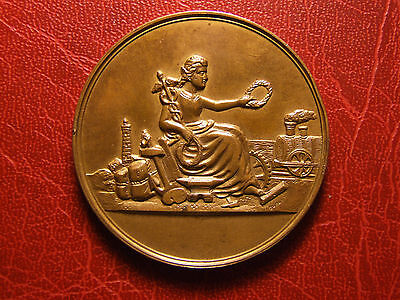 Art Nouveau French production propagation competition 1895 medal by DUPONT