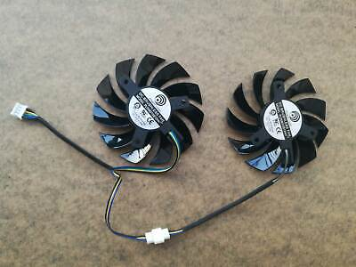 75mm Video Card Dual Fan for MSI GTX 560 570 R6970 Twin Frozr II PLD08010S12HH 1
