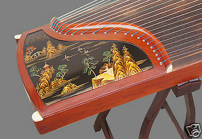 Professional Performing Inlaid Rosewood Guzheng Instrument Chinese Zither Harp
