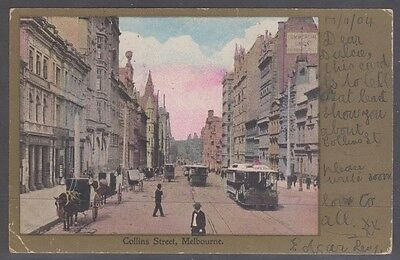 (R4-31)1904 Vic early postage Collins St Melbourne -Tas