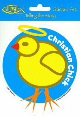 TMBishop Christian Cute Little Chick 4.25x4.75 Die-Cut Vinyl Wall Decal STICKER