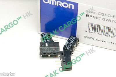 4x OMRON D2FC-F-7N(10M) Micro Switches Microswitch RAZER Logitech APPLE Mouse