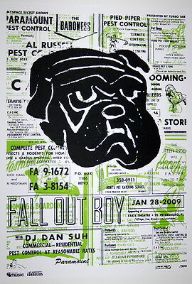 Fall Out Boy - Believers Never Die - 2009 - Myspace Secret Show Concert Poster