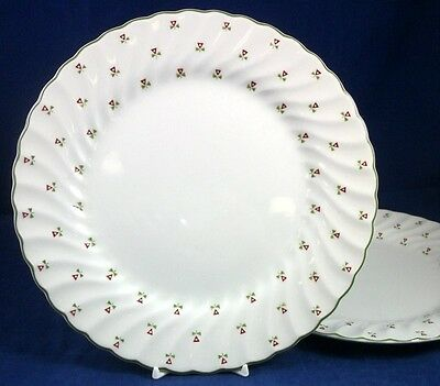 Johnson Brothers THISTLE 2 Dinner Plates Laura Ashley Design GREAT CONDITION