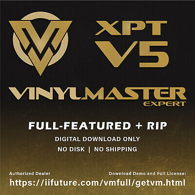 VinylMaster Xpt V4.0 2017 Graphic Design, RIP, Print & Contour Cut Sign Software