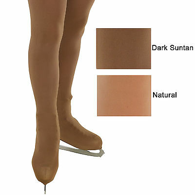 Ice Skating Tights Over the Boot Children Adult Natural Suntan 170 Den Thick