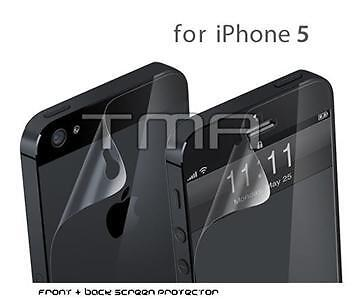 3x iPhone 5 Ultra Clear Screen Protector (Front and Back)