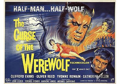 Curse of the Werewolf - Hammer Horror - Oliver Reed - A4 Laminated Mini Poster