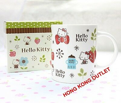 Hello Kitty Strawberry Ceramic Cup Mug Original Japan Sanrio   M18a