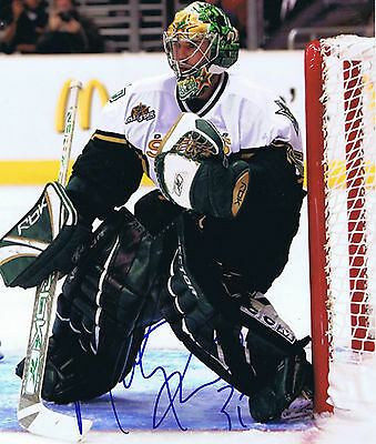 MARTY TURCO SIGNED AUTOGRAPHED 8x10 - Dallas Stars - Chicago Blackhawks