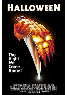 Halloween - Donald Pleasence - Jamie Lee Curtis - A4 Laminated Mini Poster