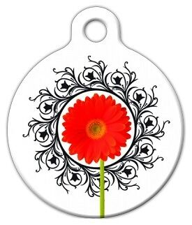 GERBER FLOWER - Custom Personalized Pet ID Tag for Dog and Cat Collars