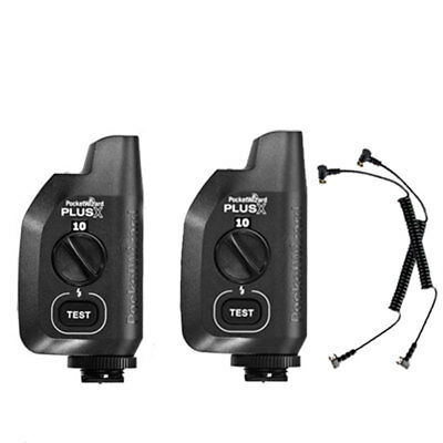 NEW Set of 2 PocketWizard Plus Power Transceiver Radio Flash Trigger 10 Channels