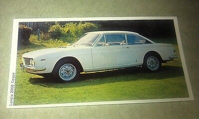 1971 LANCIA 2000 COUPE  Daily Express UK Trade Swap Card
