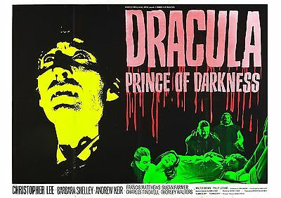 Dracula Prince of Darkness - A4 Laminated Mini Movie Poster - Christopher Lee
