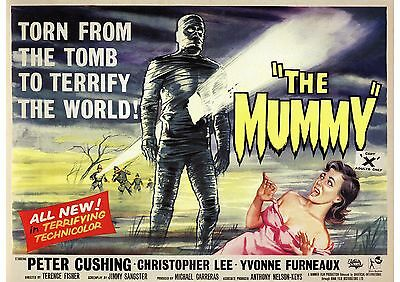 The Mummy - Peter Cushing - Christopher Lee - A4 Laminated Mini Poster