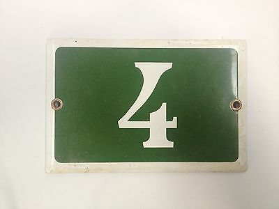 Genuine Antique Parisian Style House Number Sign . Great Vintage Piece