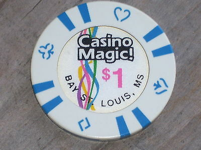 $1 GAMING CHIP FROM CASINO MAGIC CASINO BAY ST LOUIS MS