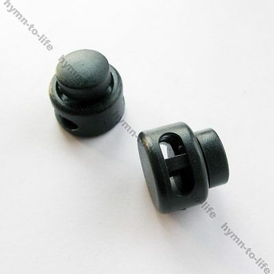 50/100 pcs press Round Cord Lock Stopper Toggles 2 Holes Clothing rope Adjuster