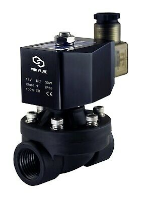 3/4 Inch Plastic Electric Air Water Zero Differential Solenoid Valve NC 12V DC