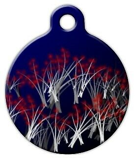 WILD FLOWER - Custom Personalized Pet ID Tag for Dog and Cat Collars
