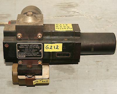 GEMINI  1.5 inch Brass BALL VALVE with Model 422 Pneumatic Actuator