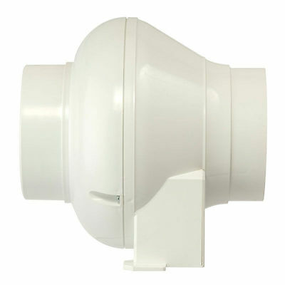 Manrose CFD200T In-Line Centrifugal Fan - 100mm Timer Model + Mounting Bracket