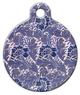 LAVENDER FLOWER PATTERN - Custom Personalized Pet ID Tag for Dog and Cat Collars