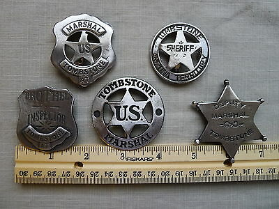 TOMBSTONE BADGES The Tombstone Collection Marshal, Deputy, Sheriff, Brothel