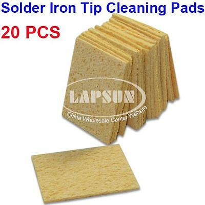 20pcs Soldering Iron Cleaner Replacement Sponges Solder Tip Cleaning Pad New