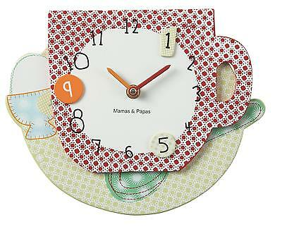 BRAND NEW Mamas & Papas Gingerbread Wall Clock - BNIB