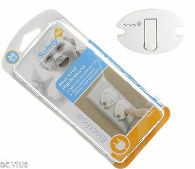 24 Baby Child Infant Toddler Home Safety Electric Outlet Plug Cover Shock Guard