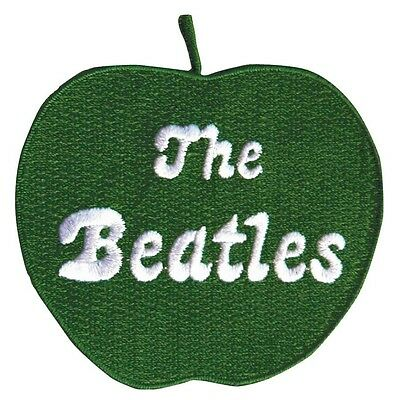 """(ZD0) THE BEATLES Green Apple 3"""" iron on patch (AF205)"""