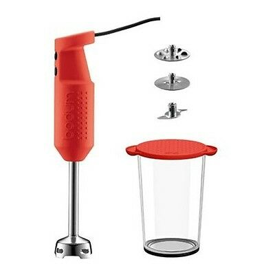 Bodum Bistro Electric Hand Blender Stick Set Red NEW BOXED
